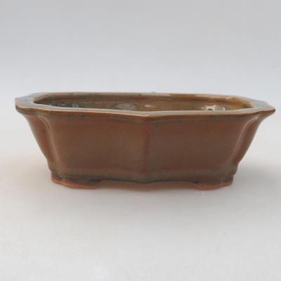 Ceramiczna miska bonsai 14 x 10 x 4,5 cm, kolor brązowy - 1