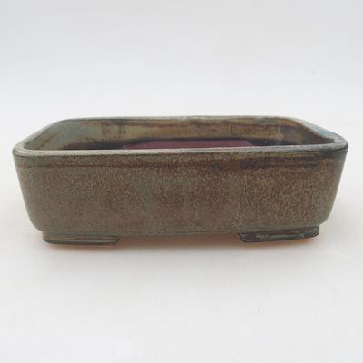 Ceramiczna miska bonsai 15 x 12 x 4,5 cm, kolor szary - 1