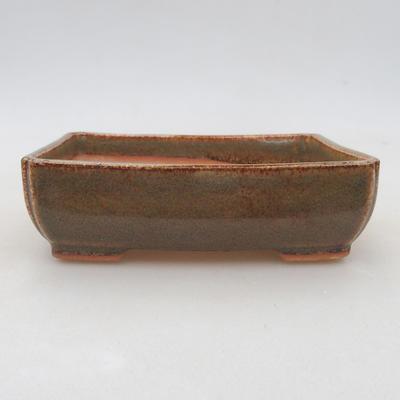Ceramiczna miska bonsai 13 x 10 x 4 cm, kolor zielony - 1