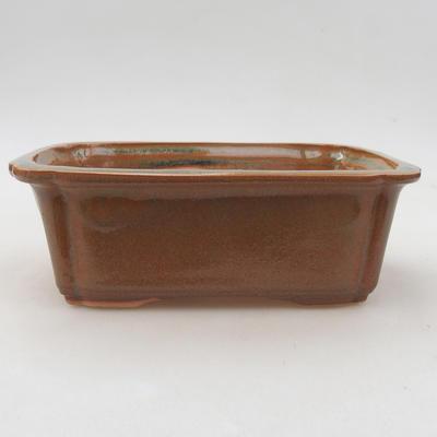 Ceramiczna miska bonsai 17 x 12 x 5,5 cm, kolor brązowy - 1