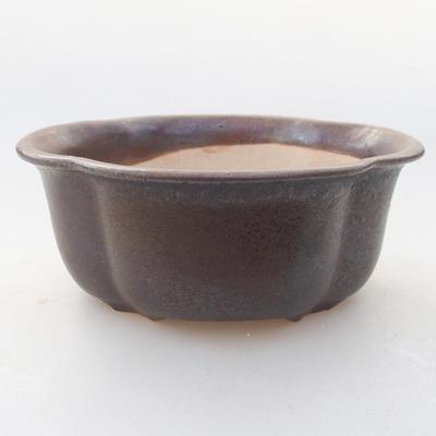 Ceramiczna miska bonsai 13 x 11 x 5 cm, kolor brązowy - 1