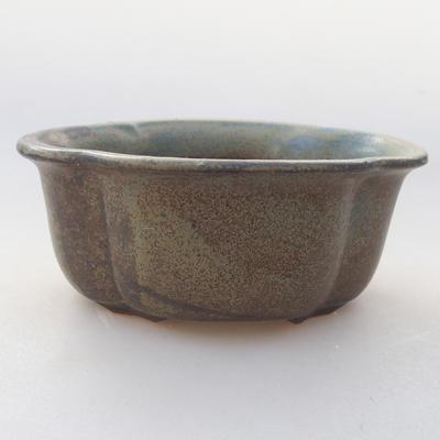 Ceramiczna miska bonsai 13 x 11 x 5 cm, kolor szary - 1