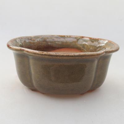Ceramiczna miska bonsai 13 x 11 x 5 cm, kolor zielony - 1