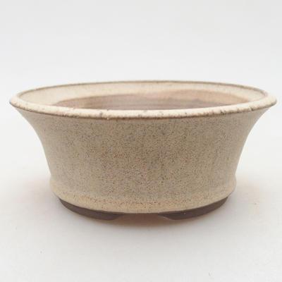 Ceramiczna miska bonsai 11 x 11 x 4,5 cm, kolor beżowy - 1