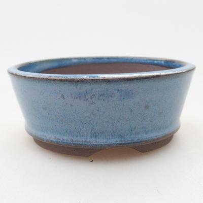 Ceramiczna miska bonsai 9 x 9 x 3,5 cm, kolor niebieski - 1