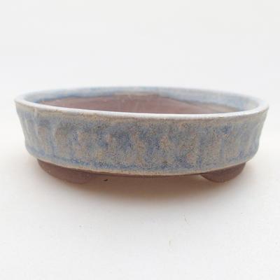 Ceramiczna miska bonsai 9 x 9 x 3 cm, kolor niebieski - 1