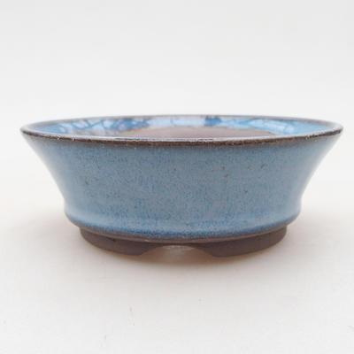 Ceramiczna miska bonsai 10 x 10 x 3,5 cm, kolor niebieski - 1