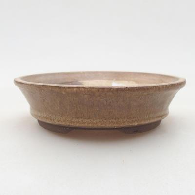 Ceramiczna miska bonsai 11,5 x 11,5 x 3 cm, kolor beżowy - 1