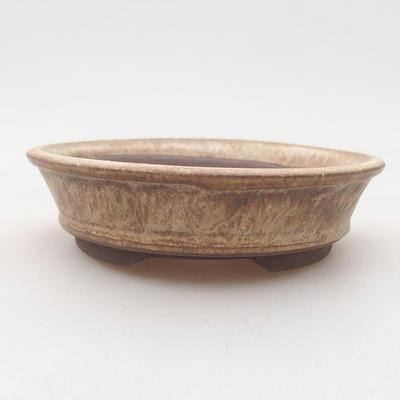 Ceramiczna miska bonsai 11 x 11 x 3 cm, kolor beżowy - 1