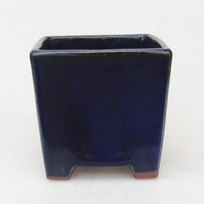 Ceramiczna miska bonsai 9 x 9 x 9 cm, kolor niebieski - 1