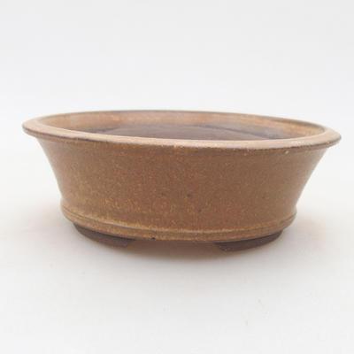 Ceramiczna miska bonsai 12 x 12 x 4 cm, kolor brązowy - 1