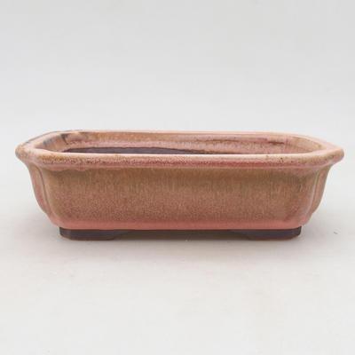 Ceramiczna miska bonsai 17,5 x 13,5 x 5 cm, kolor różowy - 1
