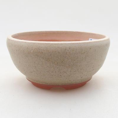 Ceramiczna miska bonsai 10 x 10 x 5 cm, kolor beżowy - 1