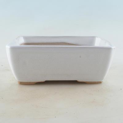 Ceramiczna miska bonsai 16 x 12 x 6 cm, kolor biały - 1