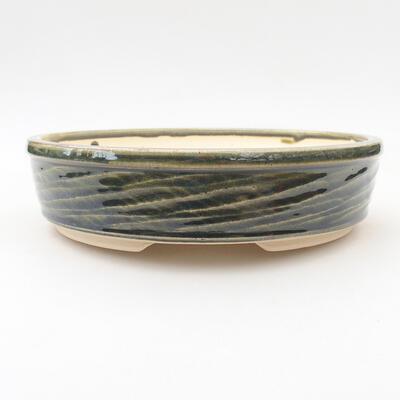 Ceramiczna miska bonsai 19,5 x 19,5 x 5 cm, kolor zielony - 1