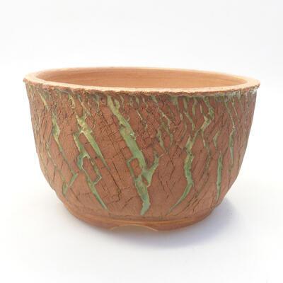 Ceramiczna miska bonsai 14 x 14 x 8,5 cm, kolor spękany - 1
