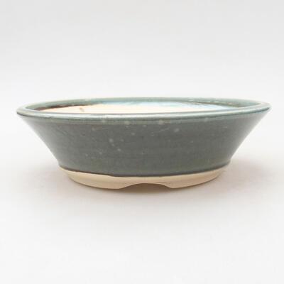 Ceramiczna miska bonsai 18,5 x 18,5 x 5 cm, kolor zielony - 1