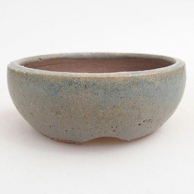 Ceramiczna miska bonsai 9,5 x 9,5 x 3,5 cm, kolor niebieski - 1