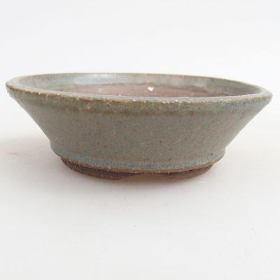 Ceramiczna miska bonsai 10 x 10 x 3 cm, kolor niebieski - 1
