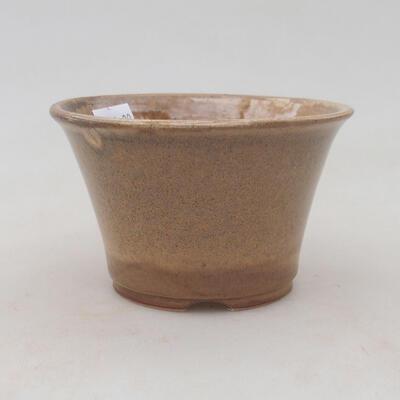 Ceramiczna miska bonsai 11 x 11 x 7 cm, kolor beżowy - 1