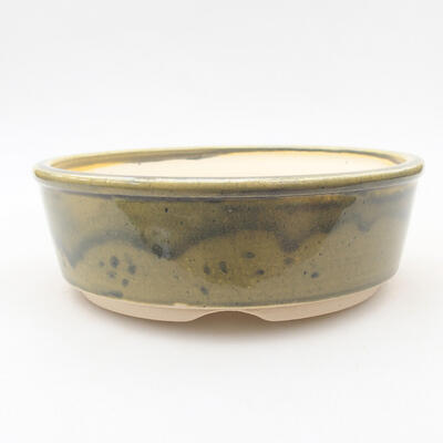 Ceramiczna miska bonsai 16 x 16 x 5 cm, kolor zielony - 1