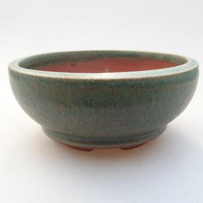Ceramiczna miska bonsai 10 x 10 x 4,5 cm, kolor zielony - 1