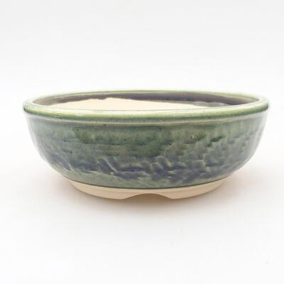 Ceramiczna miska bonsai 14 x 14 x 5 cm, kolor zielony - 1