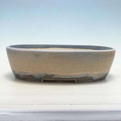 Miska Bonsai 41,5 x 32,5 x 11 cm, kolor szaro-beżowy - 1