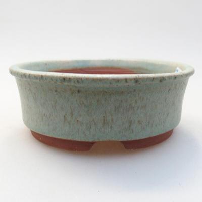 Ceramiczna miska bonsai 10 x 10 x 3,5 cm, kolor zielony - 1