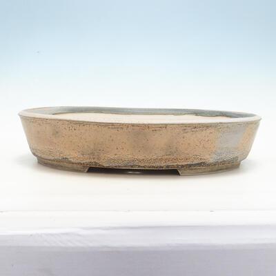 Miska Bonsai 45 x 36,5 x 9 cm, kolor szaro-beżowy - 1