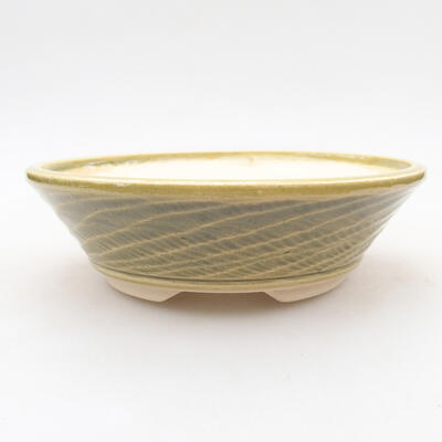 Ceramiczna miska bonsai 15,5 x 15,5 x 4,5 cm, kolor zielony - 1