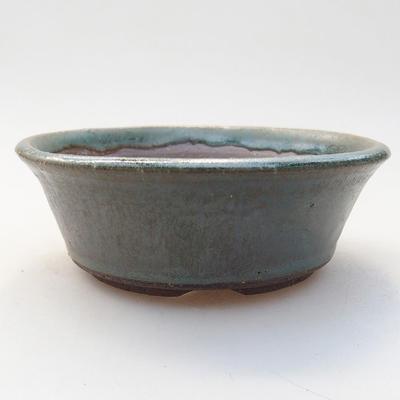 Ceramiczna miska bonsai 11,5 x 11,5 x 4 cm, kolor zielony - 1