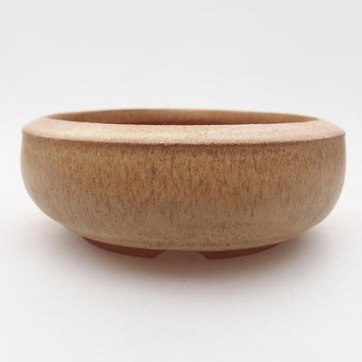 Ceramiczna miska bonsai 10 x 10 x 4 cm, kolor beżowy - 1