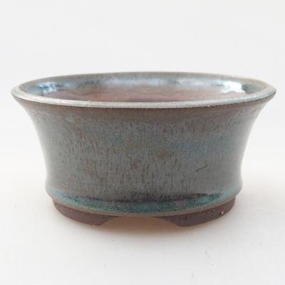 Ceramiczna miska bonsai 9 x 9 x 4 cm, kolor zielony - 1