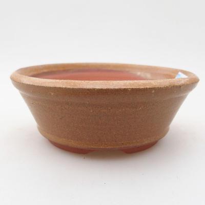 Ceramiczna miska bonsai 10,5 x 10,5 x 4 cm, kolor brązowy - 1