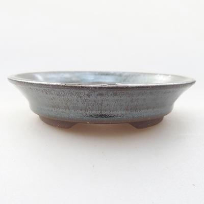 Ceramiczna miska bonsai 11,5 x 11,5 x 2,5 cm, kolor zielony - 1