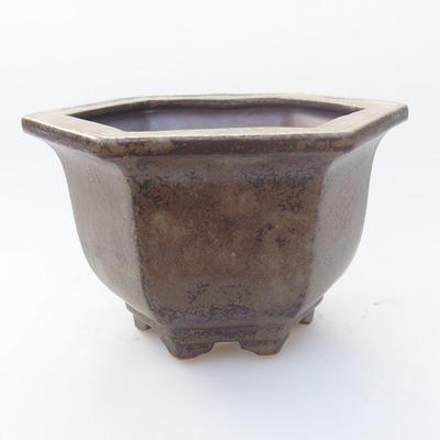 Ceramiczna miska bonsai 12,5 x 11 x 7,5 cm, kolor szary - 1