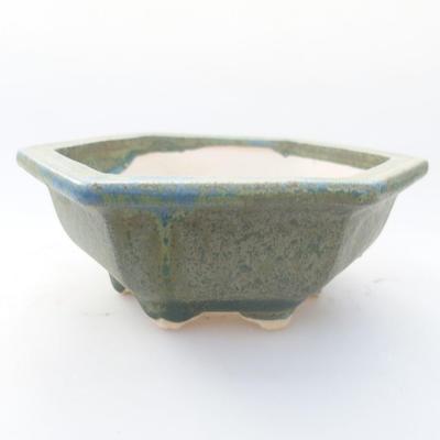 Ceramiczna miska bonsai 11,5 x 10,5 x 4 cm, kolor zielony - 1