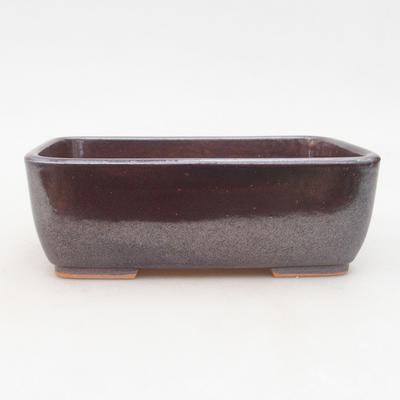 Ceramiczna miska bonsai 16 x 10 x 5,5 cm, kolor brązowy - 1
