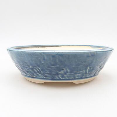 Ceramiczna miska bonsai 19,5 x 19,5 x 6 cm, kolor niebieski - 1