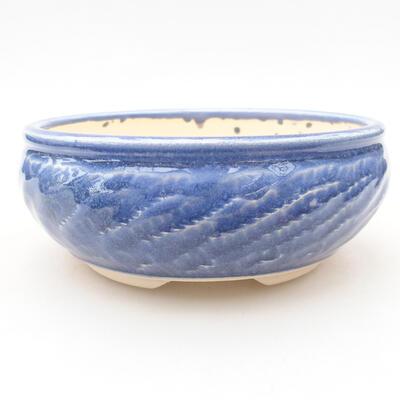 Ceramiczna miska bonsai 13,5 x 13,5 x 5,5 cm, kolor niebieski - 1