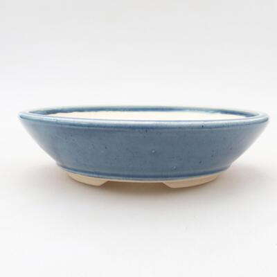 Ceramiczna miska bonsai 15 x 15 x 4 cm, kolor niebieski - 1