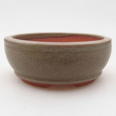 Ceramiczna miska bonsai 9 x 9 x 3,5 cm, kolor szary - 1