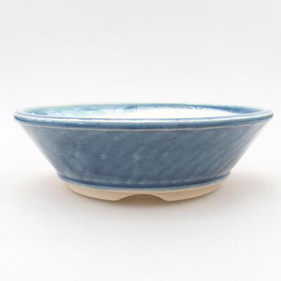 Ceramiczna miska bonsai 15 x 15 x 4,5 cm, kolor niebieski - 1