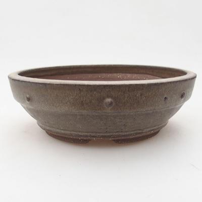 Ceramiczna miska bonsai 17,5 x 17,5 x 5,5 cm, kolor szary - 1