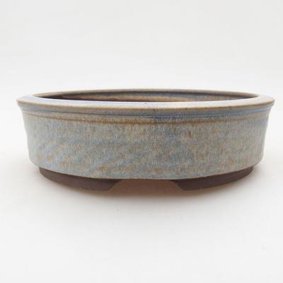 Ceramiczna miska bonsai 16,5 x 16,5 x 4,5 cm, kolor niebieski - 1