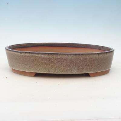 Miska Bonsai 34,5 x 25,5 x 7 cm, kolor brązowo-szary - 1