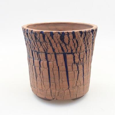 Ceramiczna miska bonsai 13 x 13 x 12,5 cm, kolor niebieski - 1