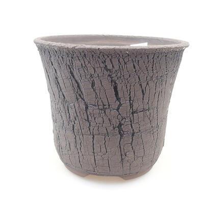 Ceramiczna miska bonsai 15,5 x 15,5 x 13 cm, kolor czarny - 1