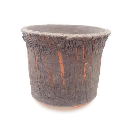 Ceramiczna miska bonsai 13 x 13 x 10,5 cm, kolor szary - 1